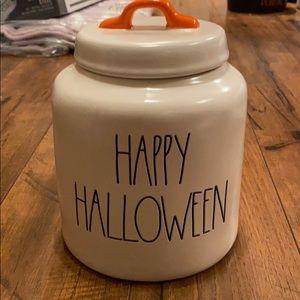 Rae Dunn happy Halloween canister